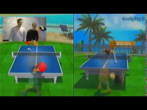 Duel Clyde vs Linky Ping Pong sur Wii Sport Resort