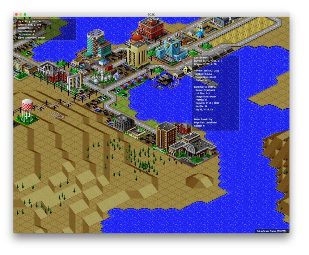 OpenSC2K , un remake de Sim City 2000